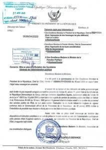 RDC : Le chef de l'État invite la ministre de la fonction publique à rapporter l'arrêté nommant les Secrétaires généraux ! 1