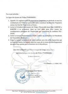 RDC: la ligue des jeunes de l'UDPS exige la rupture de la coalition FCC-CACH 2