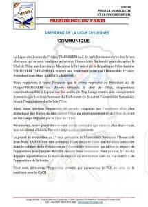 RDC: la ligue des jeunes de l'UDPS exige la rupture de la coalition FCC-CACH 1