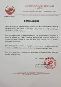 Kinshasa : L'état de santé de Vital kamerhe nécessite un suivi médical approprié et permanent ( UNC) 1