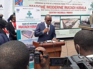 Kinshasa : Gentiny Ngobila met fin aux rumeurs sur une prétendue vente du marché Matadikibala 3