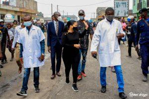 Kinshasa : Liza Nembalemba satisfaite de l'évolution et la qualité des travaux de réhabilitation de l'avenue de la libération (ex 24 novembre) 2