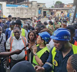 Kinshasa : Liza Nembalemba satisfaite de l'évolution et la qualité des travaux de réhabilitation de l'avenue de la libération (ex 24 novembre) 1