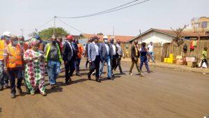 Sud-Kivu : le gouverneur Théo Kasi Ngwabidje inspecte les travaux de réhabilitation de la voirie urbaine de Bukavu 1